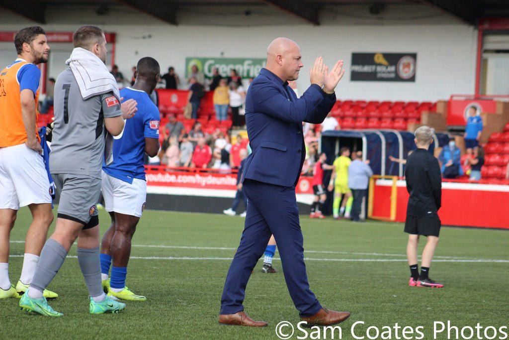 FC United manager Neil Reynolds