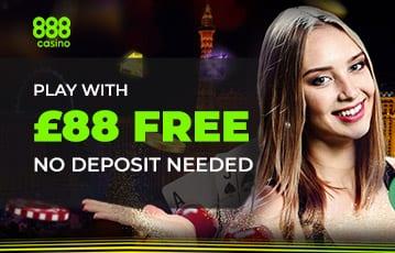 888 casino bonus £88 free
