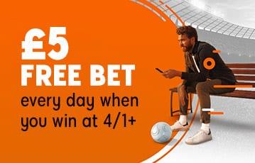 888sport £5 free bet bonus