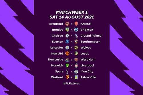 Premier League Matchday 1 Fixtures