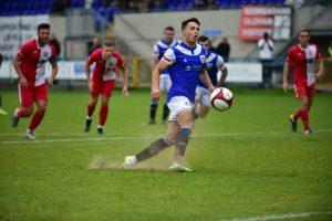 Stalybridge player takes penalty