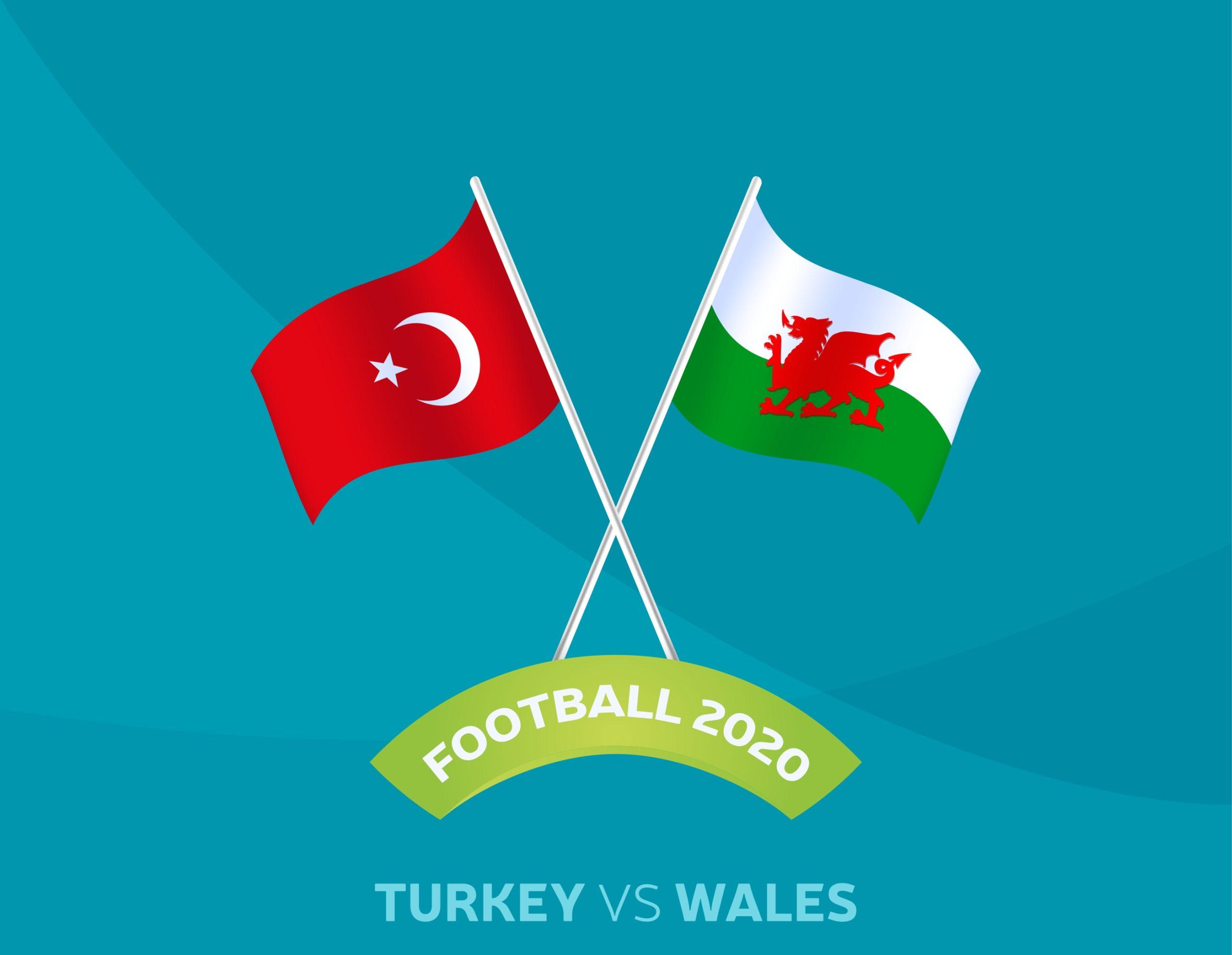 Turkey vs Wales Flags