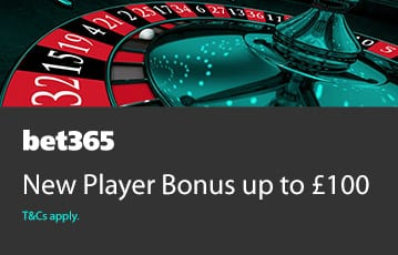 Bet365 casino bonus up to £100