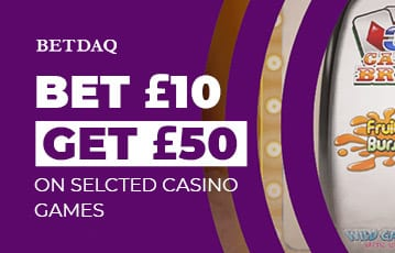 Bet £10 Get £50 on casino games