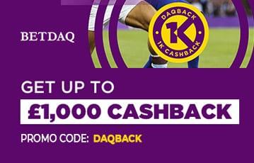 Betdaq £1000 Cashback