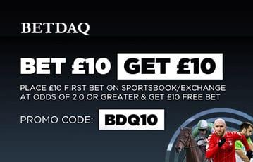 Bet £10 Get £10