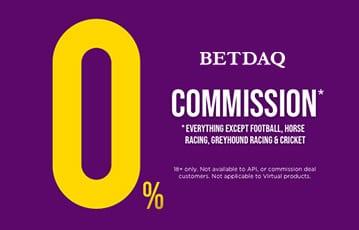 Betdaq takes 0% commission