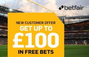 Betfair sports bonus up to £100 free bets