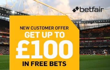 Betfair sports bonus up to £100 free bets
