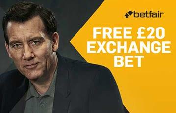 Betfair free £20 exchange bet