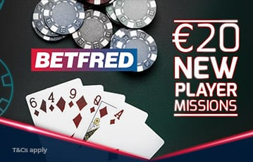 Betfred poker £20 new player missions