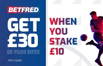 Betfred £30 in free bets