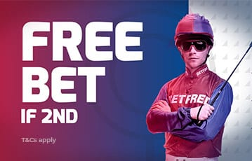 Betfred free bet for 2nd place finish
