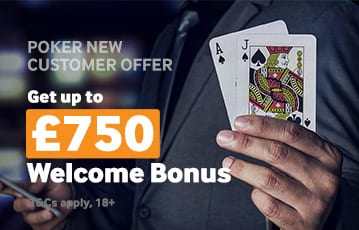 Betway poker welcome bonus up to £750