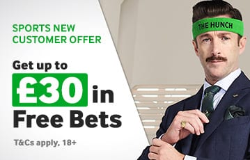 Betway £30 in free bets sports offer