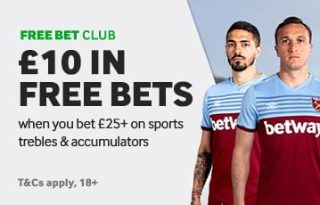 Betway £10 in free bets