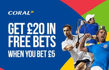 Coral £20 free bets sport bonus