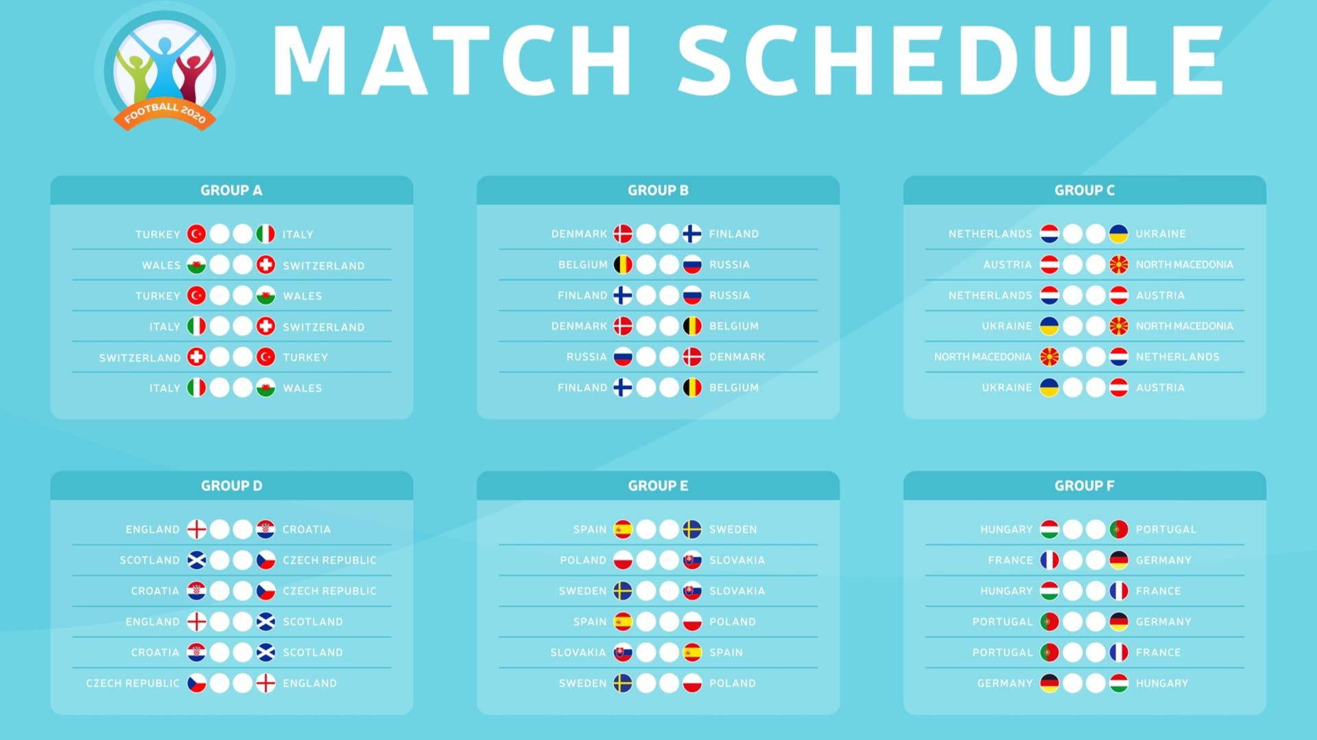euro 2021 schedule