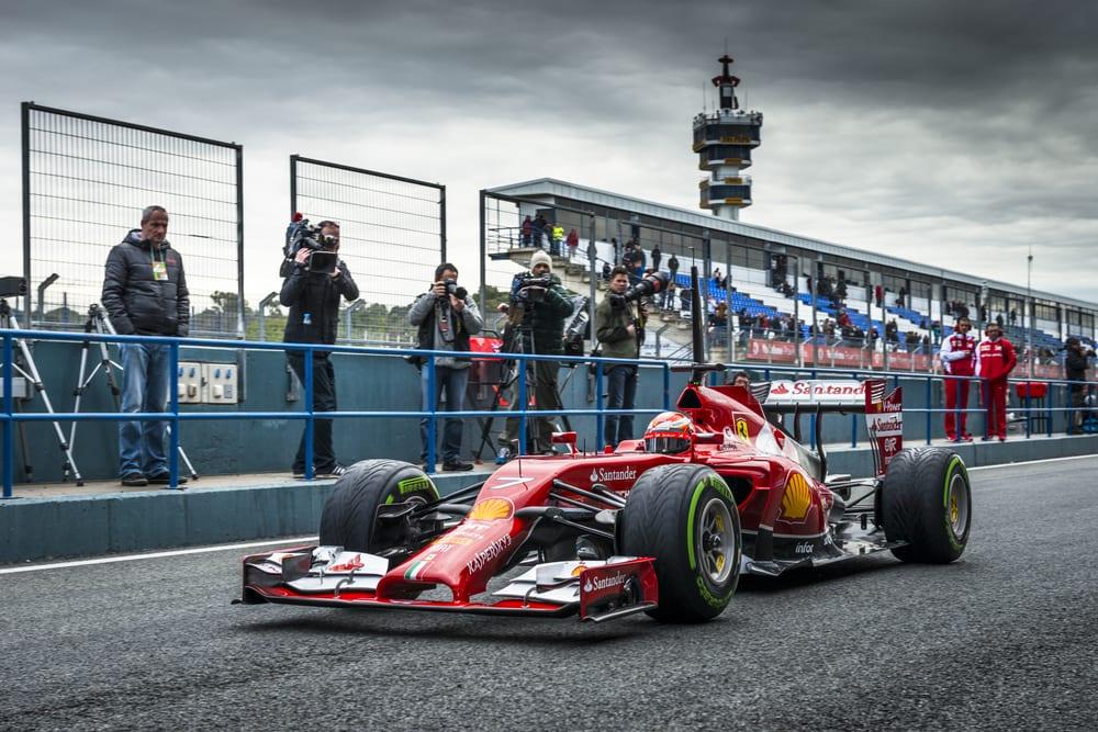 f1 car testing
