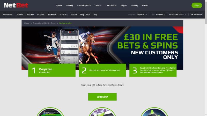 NetBet Online Betting Offers