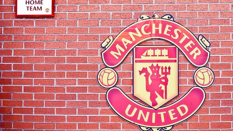 Manchester United crest on wall