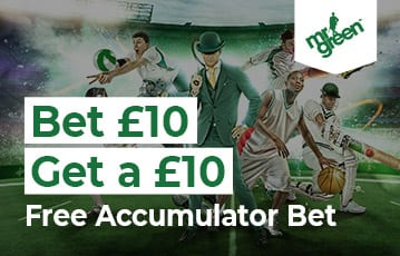 Bet £10 Get £10 free accumulator bet