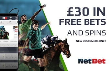 NetBet £30 free bet welcome offer