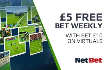 NetBet £5 weekly free bet
