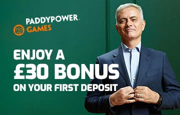 Paddypower £30 casino bonus