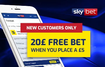 Skybet £20 free bet sports bonus