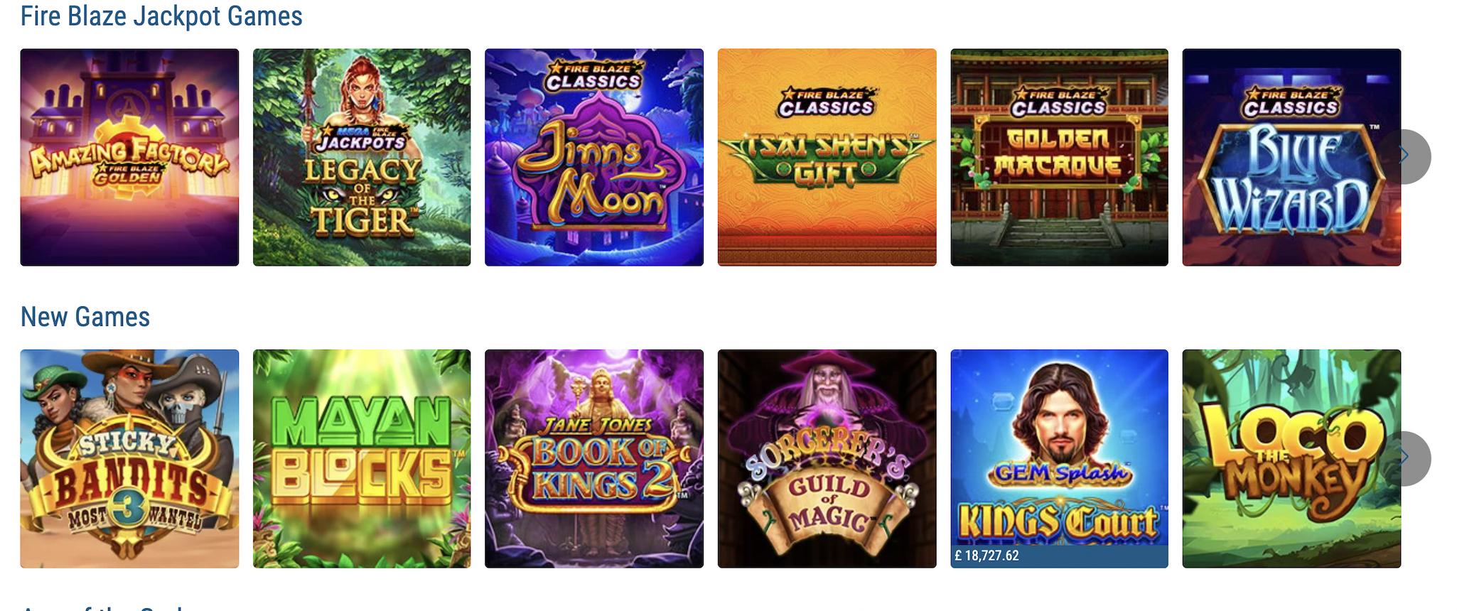 sportingbet casino games