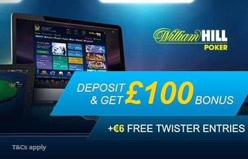 William Hill £100 poker bonus